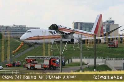 747-200 Cargo of Kalitta Air crashed at Brussels Airport